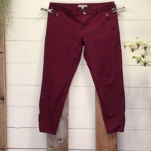 Banana Republic Sloan Jeans Maroon Pre-Loved